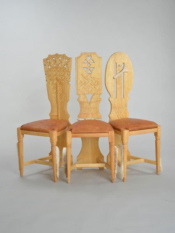 Samisk hantverk stol